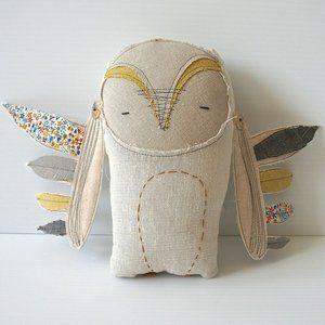 H Luv Handmade Cotton Owl Plush Doll Toy Baby Gift